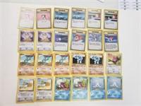 (24) Base Set 2nd Release Pokemon Cards