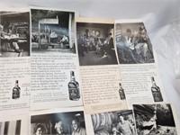 Vintage Jack Daniel Distillery Informational Ads.