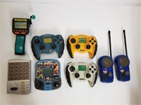 Vintage Handheald Games And Walkie Talkies