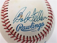 Bob Feller Signed Official Rawlings Baseball