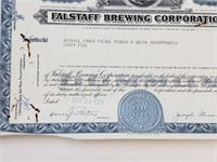 1967 Falstaff Brewing Less Than 100 Common Stock