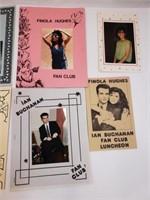Fiona Hughes Signed & Ian Buchanan Fan Club Misc
