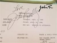 John Reiley Signed General Hospital Script