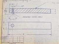 1960's Remington Arms Stock Blueprints
