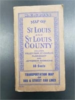 Vintage Saint Louis And St. Louis County Map