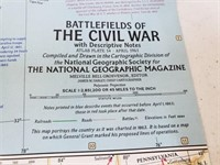 1961 Battlefields Of Civil War Nat. Geographic