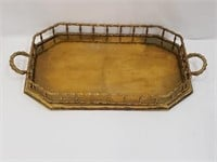 Vintage Brass Carrying Tray