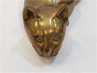 Vintage Brass Laying Cat Figurine