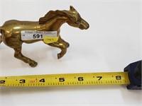 Vintage Brass Running Horse Figurine