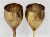 Two Vintage Brass Goblets