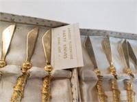 Antique Florentine Party Knives And Forks Set