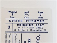 1954 Our Million Dollar Baby Show Ticket