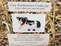 Cow Earthenware Cookie Jar