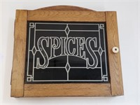 Vintage Wooden Spices Wall Cabinet