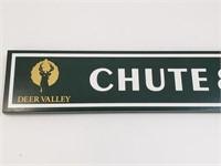 Deer Valley Chute Sign