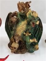 (5) Dragon Statue Figurines