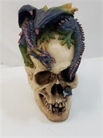 Dragon And Skull Statue Figurine