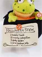 Halloween Talking Stew Plush Frog Couldron Décor
