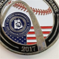 2017 World Record Baseball Game Military Token