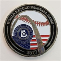2017 World Record Baseball Game Military Token