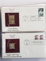 40 Golden Replica First Day Issue US Stamps