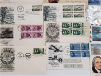 1930-1950's Foreign/US Envelopes With Stamps