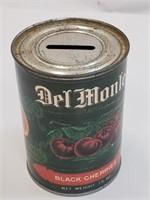 Vintage Del Monte Black Cherries Piggy Bank