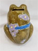 Vintage Ceramic Frog Piggy Bank