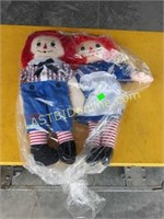 2 New Raggedy Ann & Andy  Dolls