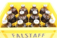 (12) Sealed And Full Falstaff Beers with Holder