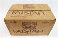 (24) Empty Falstaff Beer Bottles With Holder