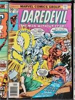 (7) Vintage Marvel Comic Books Daredevil