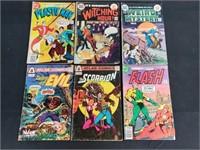 (6) Vintage DC & Atlas Comic Books Flash