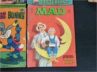 (10) Vintage Gold Key Mad Whitman Comic Books