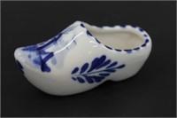 Hand Painted Porcelain Dutch Clog Figure