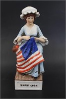 1976 Betsy Ross McCormic Whiskey Decanter