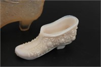 Vintage Glass Starburst Slippers Figurines