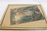 1906 Pastel Artwork Signed Emma Markmann