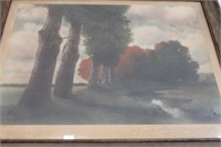 1905 Print Along The Meadow Brook