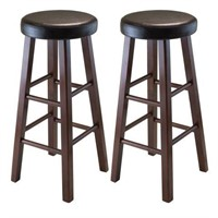 WINSOME 2 SOLID WOOD BAR STOOLS