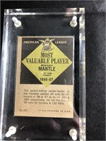 Mickey Mantle mvp baseball card