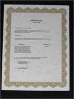 14kt Gold & Diamond Encrusted Pendant w/ Appraisal