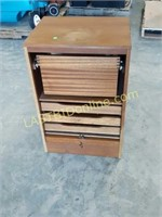 Wooden File Cabinet with Key