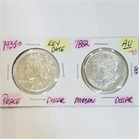 Key Date 1935-S Peace & 1882 Morgan Dollar