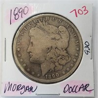 1890 90% Silver Morgan $1 Dollar