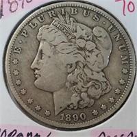 1890-O 90% Silver Morgan $1 Dollar