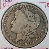 1899-O 90% Silver Morgan $1 Dollar