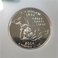 2004-S NGC PF69 Ultra Cameo Michigan Quarter