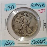 1959 Frankin & 1937 Walking Liberty Half Dollar