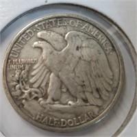 1954 Frankin & 1943 Walking Liberty Half Dollar